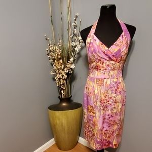 Kay Unger backless silk dress size 8 NWT